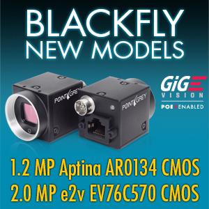 Flir Systems Inc Blackfly 1 2 And 2 0 Mp Global Shutter